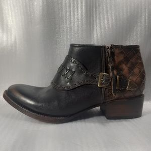 "100%LEATHER FREEBIRD by STEVEN""GRAND""BOOT 9/25.5cm"